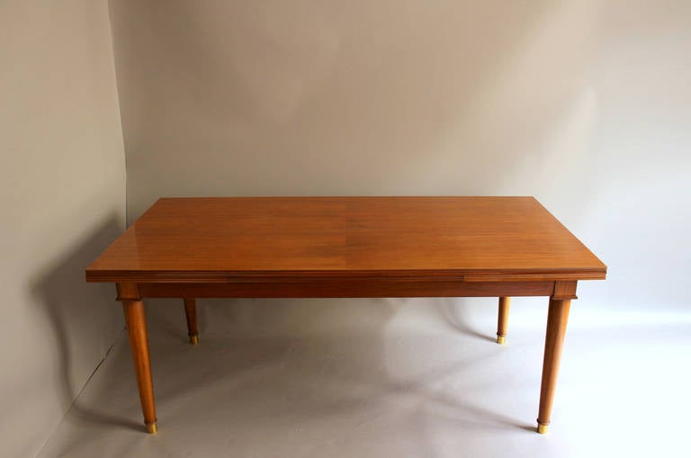 Fine French Art Deco Walnut Dining Table By Jules Leleu For Sale At 1stdibs