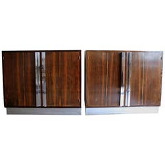 Two French Art Deco Macassar Cabinets
