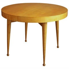 French 1950s Round Table by Verot & Clement