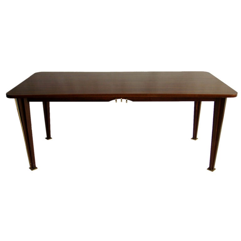 A Fine French 1950s Rosewood Dining Table For Sale