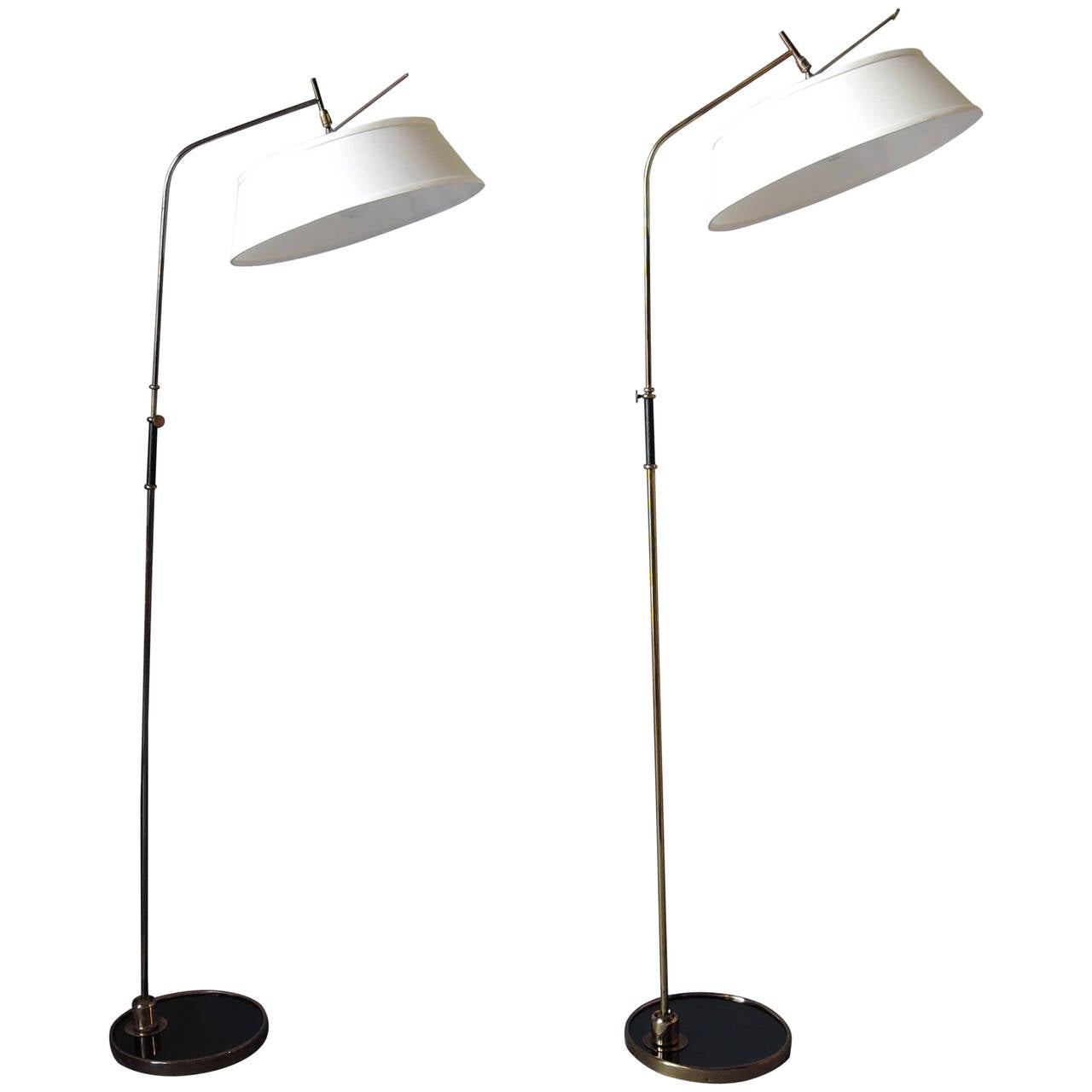 Two Fine 1950s French Floor Lamps by Lunel