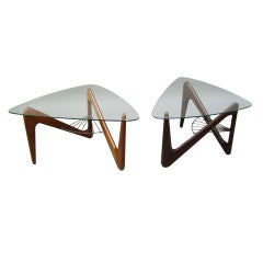 2 fine French art Deco Side Tables by Louis Sognot