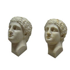 2 Rare Sconces of Apollo's Head by André Cazenave for Atelier A