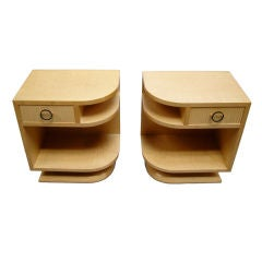 Pair of Fine French 1960s Sycamore Side Tables