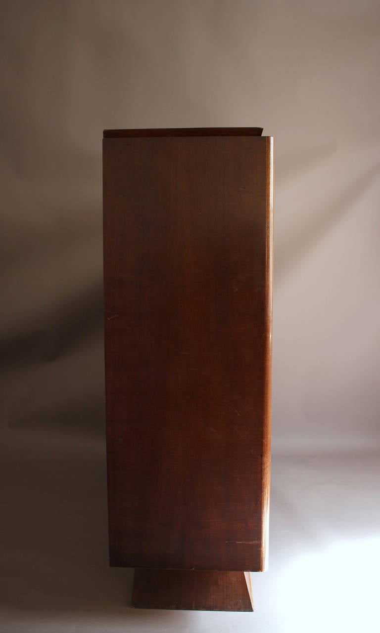 Fine French Art Deco Rosewood and Sycamore 2 doors Armoire For Sale at 1stdibs -> Armoire Basse Télé