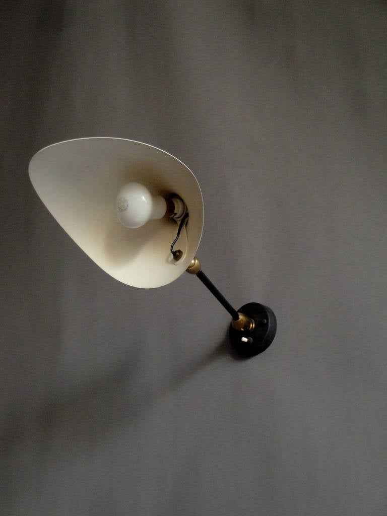 French Original 1950s Sconce by Serge Mouille For Sale 1