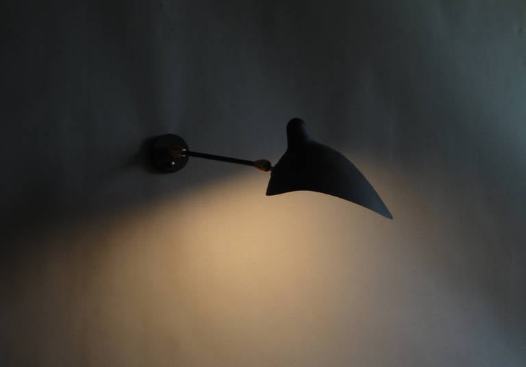 French Original 1950s Sconce by Serge Mouille For Sale 3