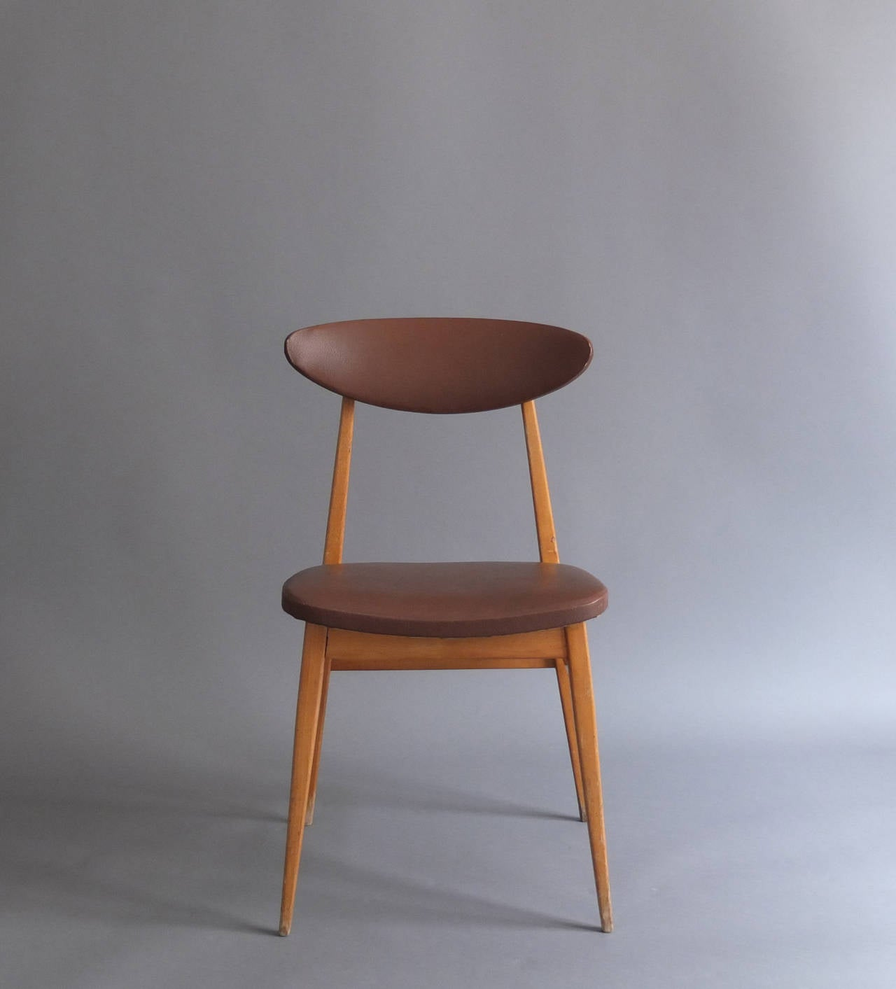 14 french 1950s dining or side chairs for sale at 1stdibs for Side chairs for sale