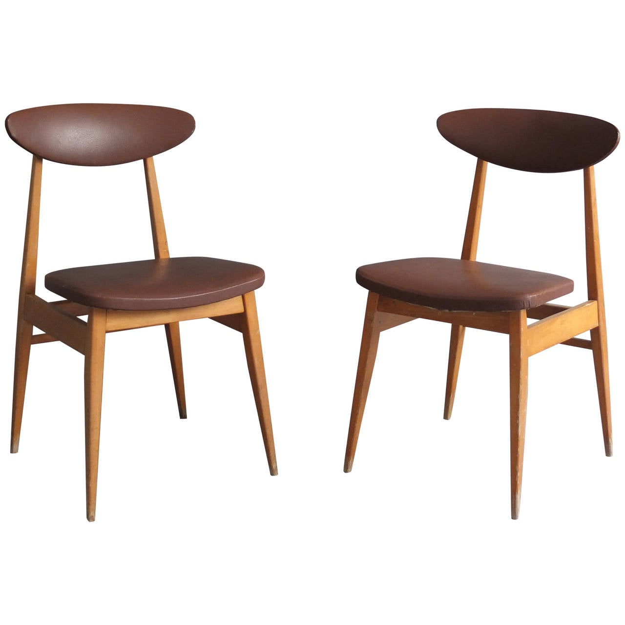 14 French 1950s Dining or Side Chairs