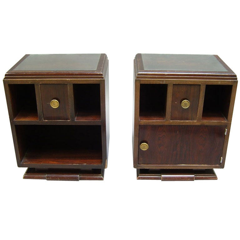Pair of French Art Deco Side Tables or Night Stands For Sale