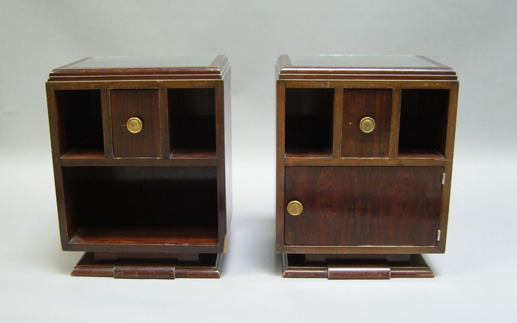 Pair of French Art Deco Side Tables or Night Stands For Sale 6