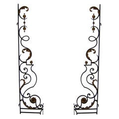 Pair of Fine French Art Deco Wrought Iron Gates