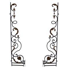 Pair of Fine French Art Deco Wrought Iron Gates