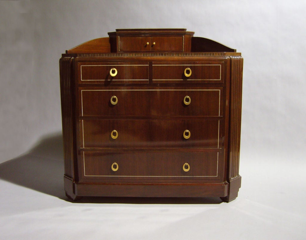 French art deco commode by franscique chaleyssin for sale for Commode miroir art deco