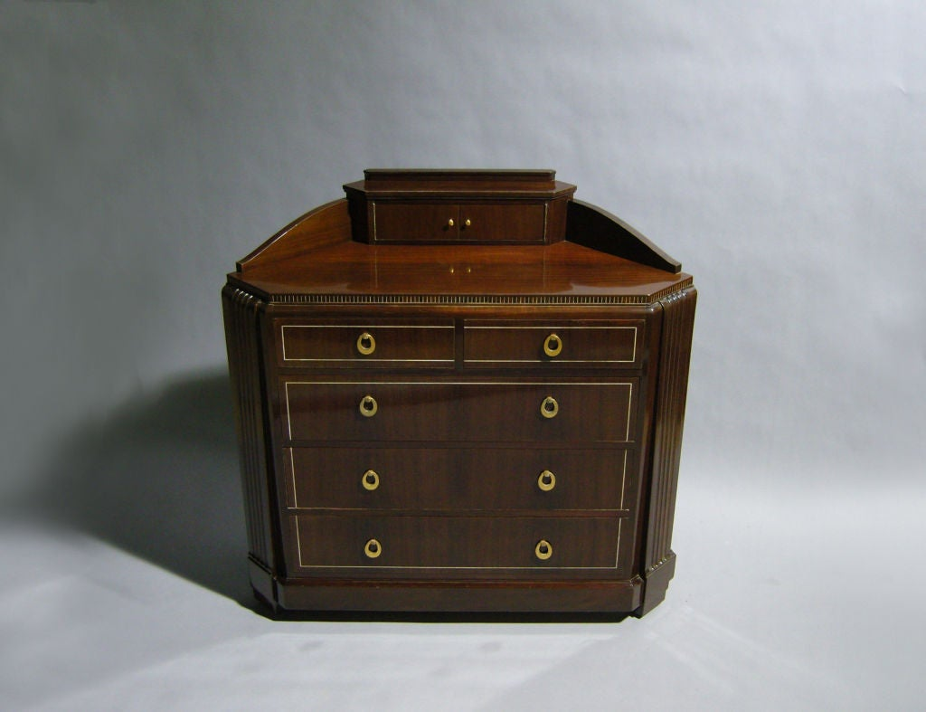 french art deco commode by franscique chaleyssin for sale at 1stdibs. Black Bedroom Furniture Sets. Home Design Ideas
