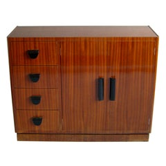 Fine French Art Deco Mahogany Buffet or Dresser by Lahalle
