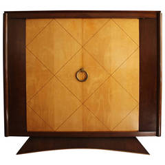 Baker Furniture Art Deco Style Burlwood Armoire For Sale at 1stdibs