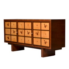 Fine French Art Deco Walnut and Sycamore Sideboard