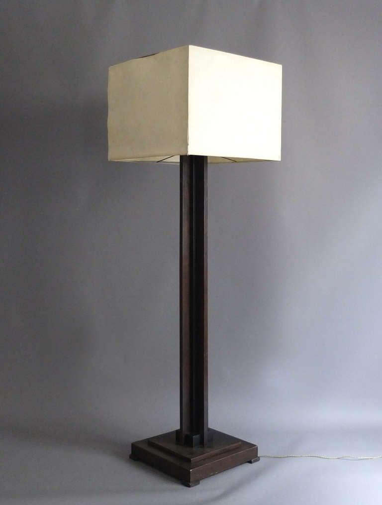 fine french art deco floor lamp for sale at 1stdibs. Black Bedroom Furniture Sets. Home Design Ideas