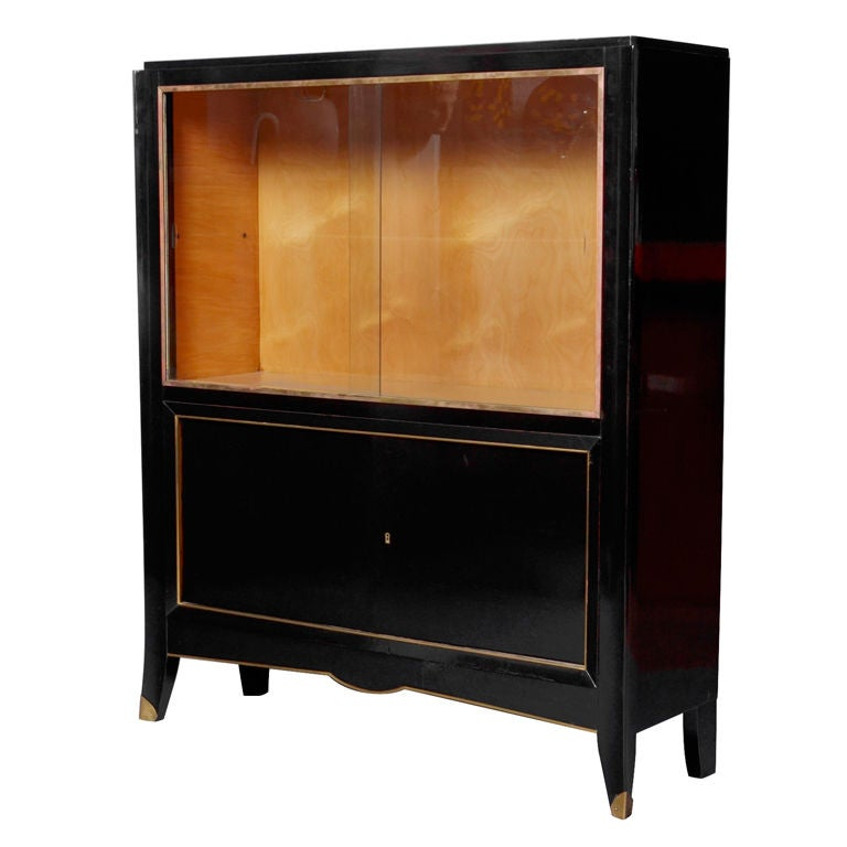 french art deco vitrine at 1stdibs. Black Bedroom Furniture Sets. Home Design Ideas