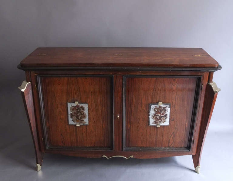 French Art Deco Top Front Door Buffet And Bar For Sale At 1stdibs