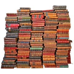 Assorted French Antique Leather Bound Books - Price is per yard -