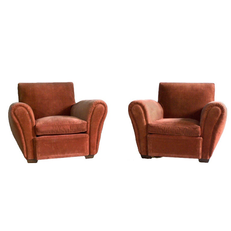 A Pair of French Art Deco Club Chairs