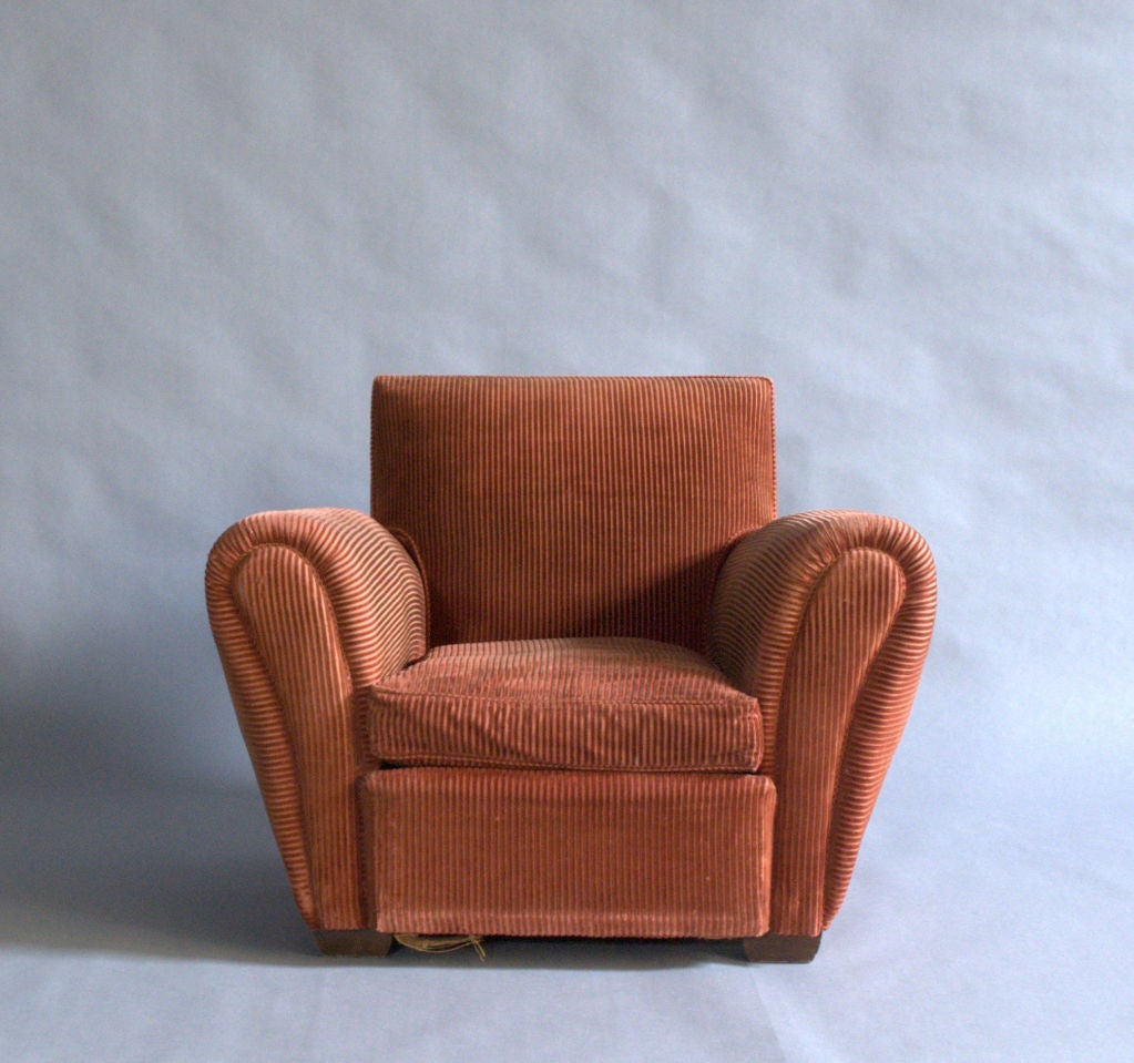 Pair of French, Art Deco Club Chairs 3
