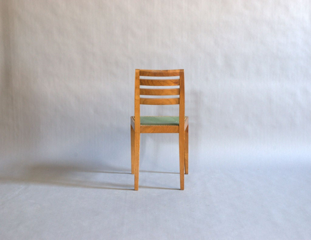 Set of Eight French Art Deco Chairs For Sale 1