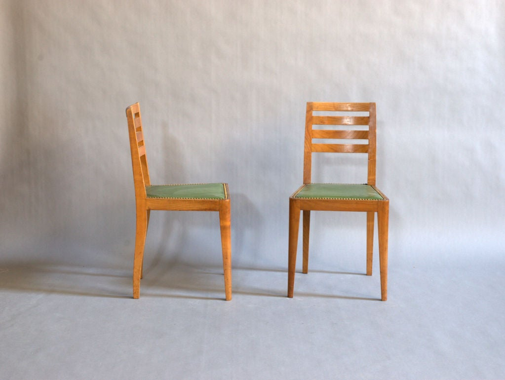 Set of Eight French Art Deco Chairs For Sale 2