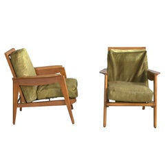 A Pair of Fine French 1950s Armchairs