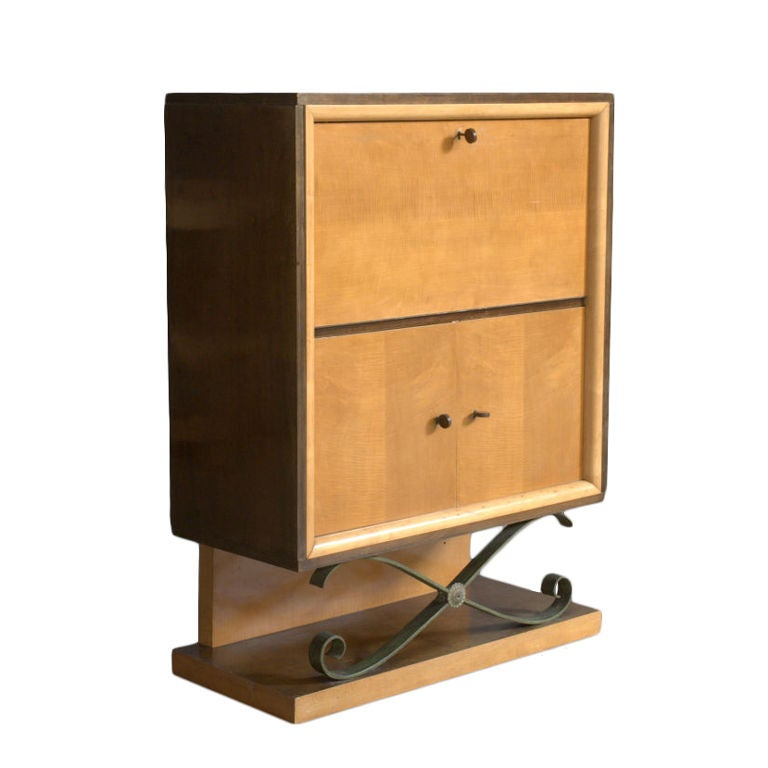 art deco bar or cabinet by de coene at 1stdibs. Black Bedroom Furniture Sets. Home Design Ideas