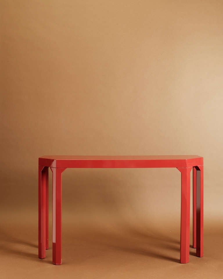 American Albrizzi Lacquered Console Table For