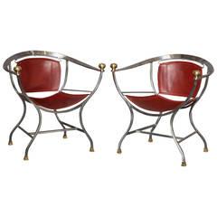 "Exceptional Pair of Alberto Orlandi ""Pompeii"" Armchairs"