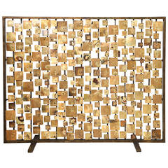 "Marie Suri ""Aurora"" Fire Screen in Gold"