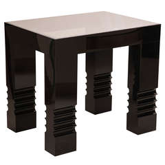 Limited Edition Black Lucite Side Tables