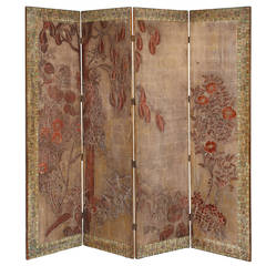 Rare and Important Max Kuehne Gilded Folding Screen