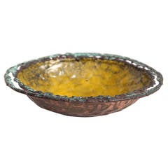 Marcello Fantoni Hand-Wrought and Enameled Copper Bowl