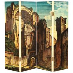 Piero Fornasetti Four-Panel Folding Screen