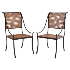 John Vesey Pair of Wrought Iron Chairs