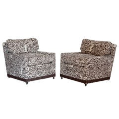 Pair of Billy Baldwin Lounge Chairs