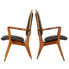 Rare Set of Four Armchairs by Vladimir Kagan