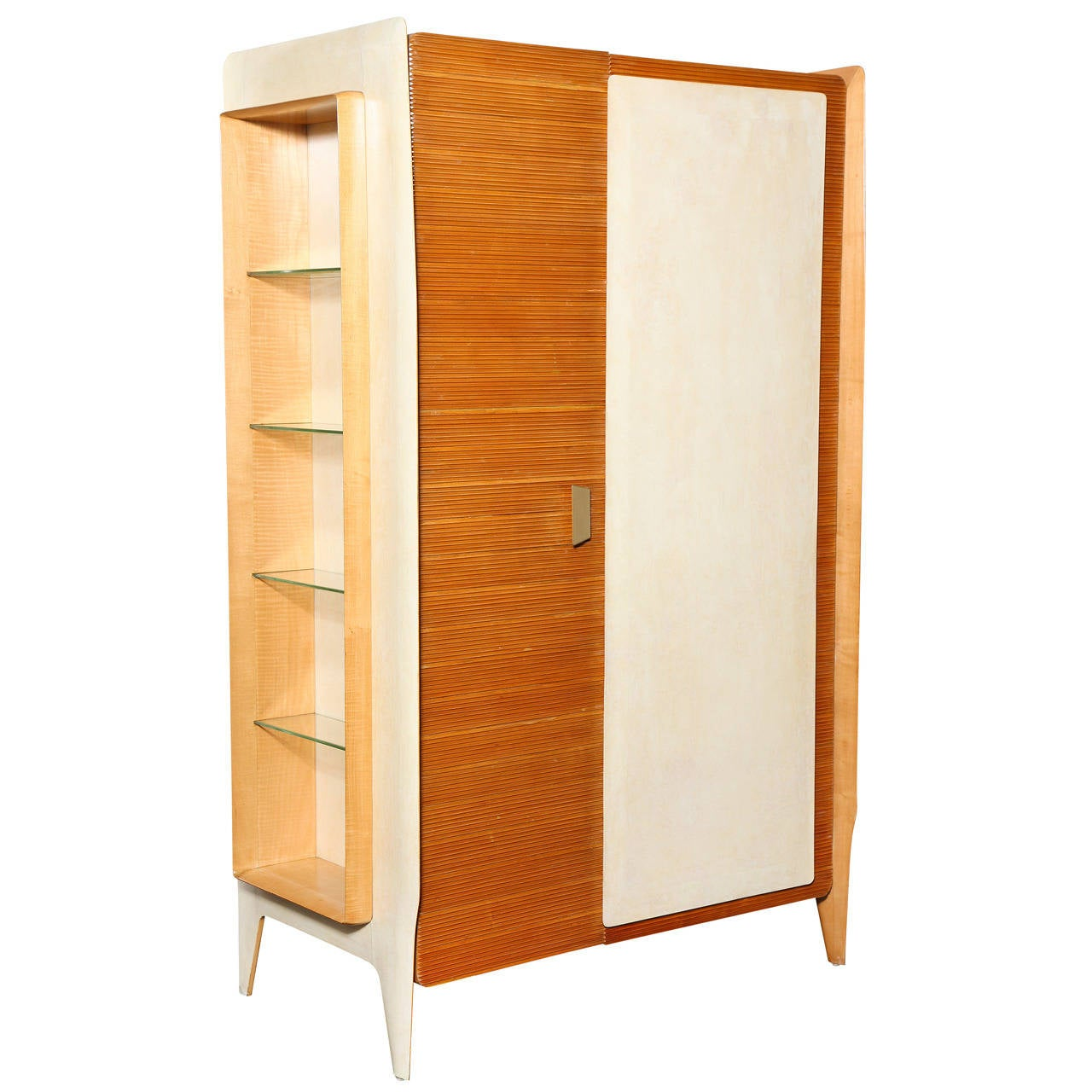 Extraordinary Two-Door Storage Cabinet by Gio Ponti at 1stdibs
