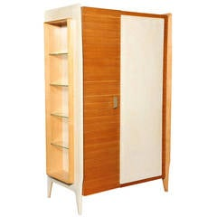 Extraordinary Two-Door Storage Cabinet, Attributed to Gio Ponti