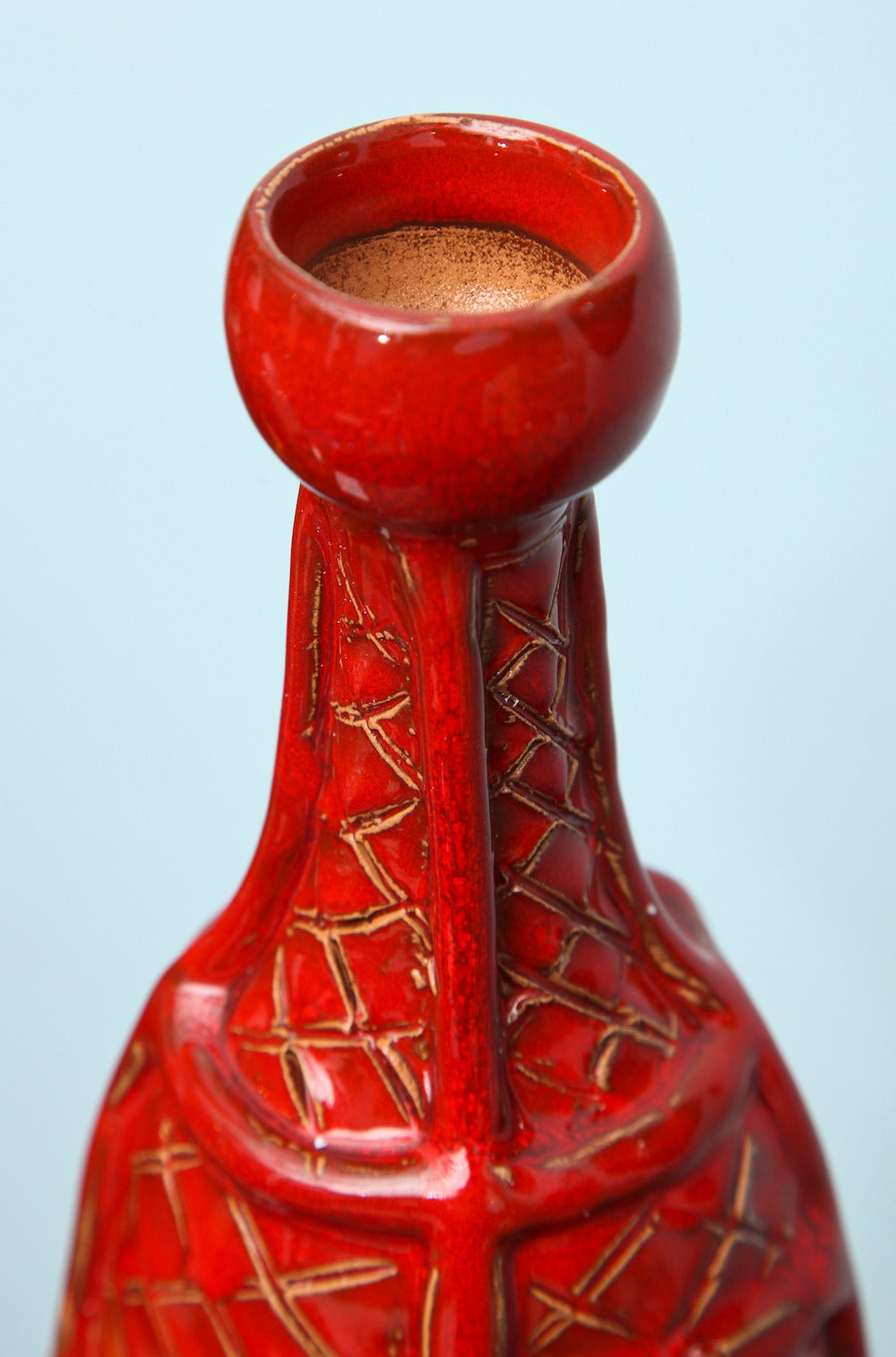 Italian Unique, Studio-Built Ceramic Bottle For Sale