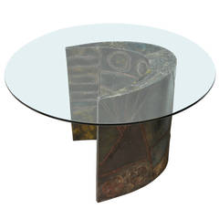 Studio-Made Pedestal Table by Paul Evans