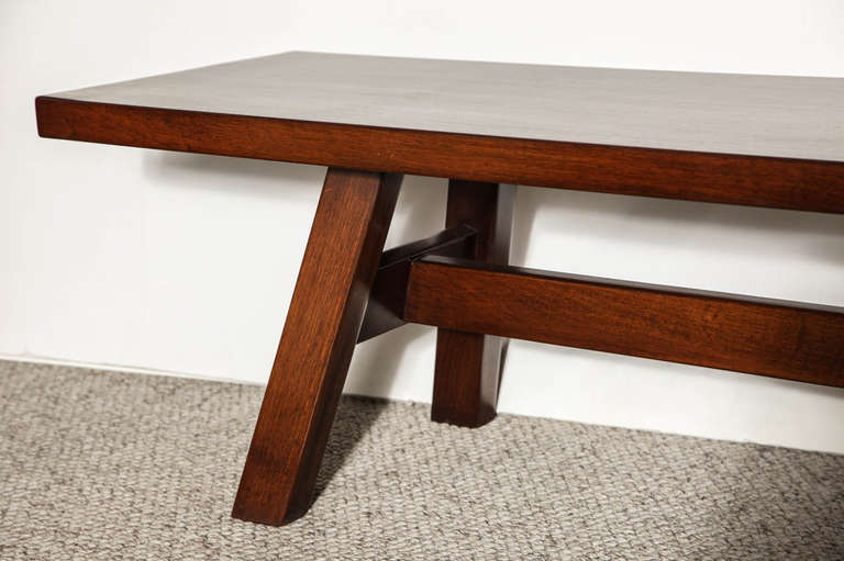 Torbecchia cocktail table bench by giovanni michelucci for Cocktail table with 4 benches