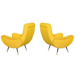 Pair of Sculptural Lounge Chairs