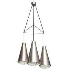 Rare Three-Cone Pendant No. 2126 by Max Ingrand for Fontana Arte