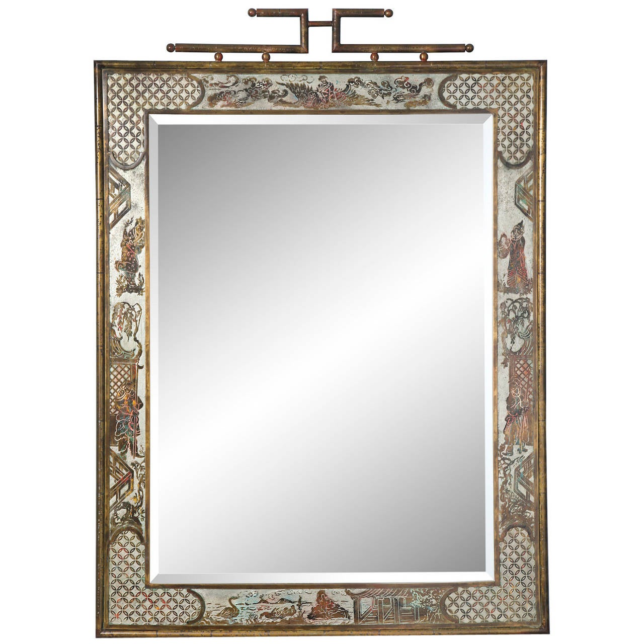 Philip and kelvin laverne mirror for sale at 1stdibs for Asian style mirror